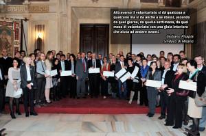 """La cerimonia a conclusione dell'evento """"Volontari per un giorno"""""""