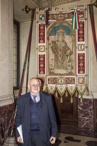 A.Iosa presso la sala Alessi nel 2017 per il 55° della Fondazione C.Perini