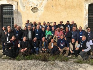 Cortile interno del carcere di Gaeta, foto oggi di Testimoni di Geova allora detenuti per obiezione di coscienza